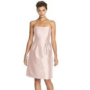 NWOT Alfred Sung Pink Pearl Dupioni Cocktail Dress